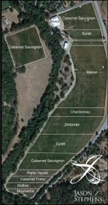 Jason Steven's Vineyard Map