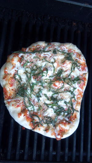 Pizza Cooked on a Grill