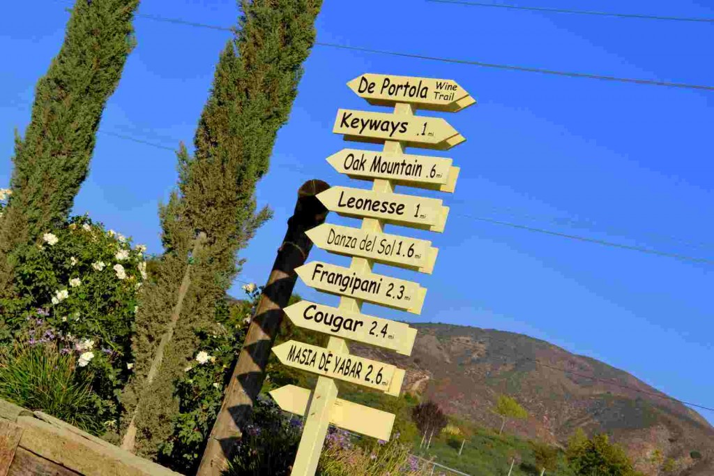 Temecula Sign Posts for Wine Blog