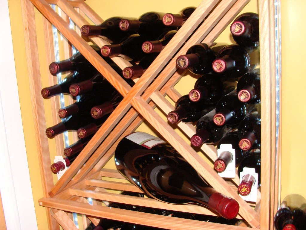 Wine Bottle Shapes and Sizes In A Wine Rack