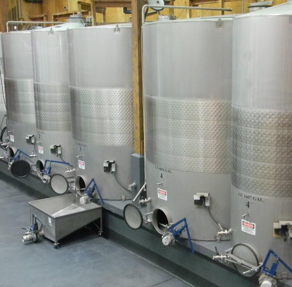 Wine in Fermentation Tanks
