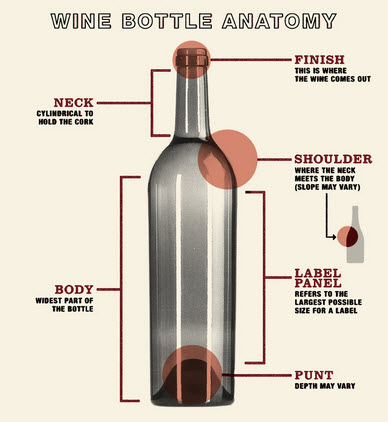 Drawing of a Wine Bottle