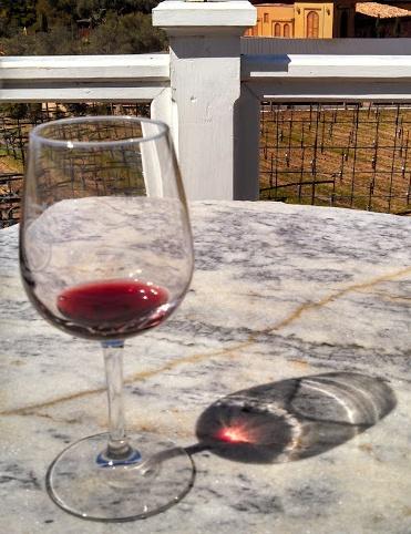 Wine Glass with Sun