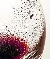 Wine Glass With Wine Sediments