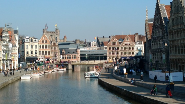 Walking in Downtown Ghent