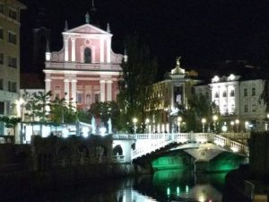 Ljubljana During An Evening Stroll