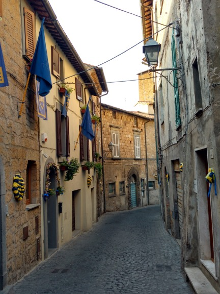 Another Neighborhood In Orvieto In Its Traditional Colors