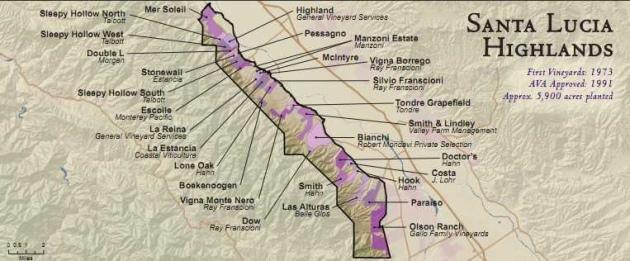 santa lucia highlands map Wine Artisans Of Santa Lucia Highlands Experience Our Mountain Home santa lucia highlands map